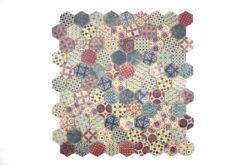 Gresite Hexagonal Decorado Tierra Mate