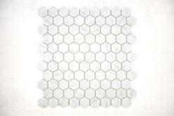 Gresite Hexagonal Gris Mate Carrara