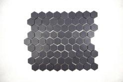 Gresite Hexagonal Negro Mate