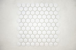 Gresite Hexagonal Gris Claro Mate Relieve