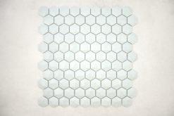 Gresite Hexagonal Azul Claro Mate Relieve