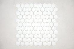 Gresite Hexagonal Blanco Mate Relieve